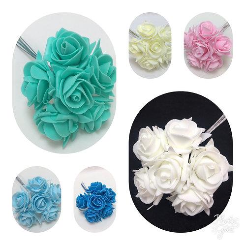 4 cm Foam Rose X 6