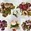 Thumbnail: Artificial Silk Flower Dusty Peony Flower Bunch. 50 cm H/30 cm W