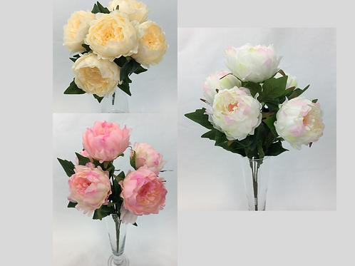 Large Peony Flower Bush X 5