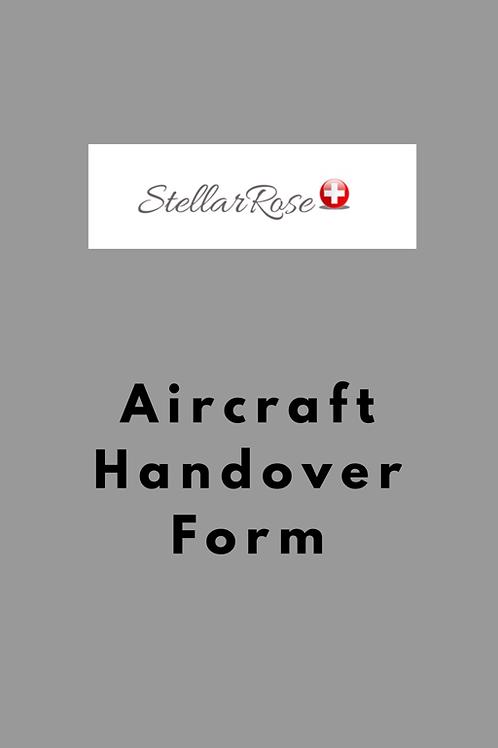 Aircraft Handover Form