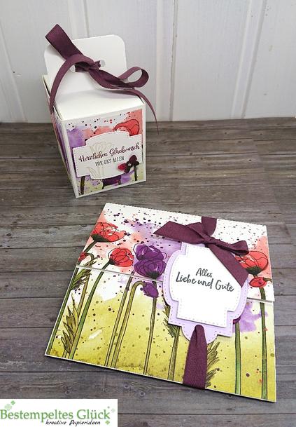 Eine Mohnblüten Geschenk-Kombi