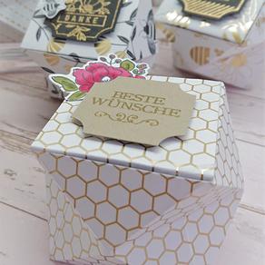 Kleine Boxen im Bienengold
