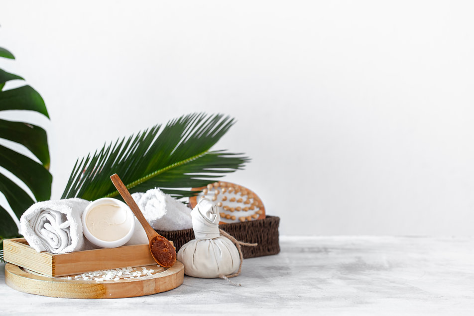 spa-composition-with-body-care-items-lig