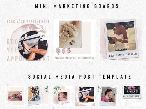Editable Social Media Posts Templates & Marketing Boards - INSTANT DOWNLOAD