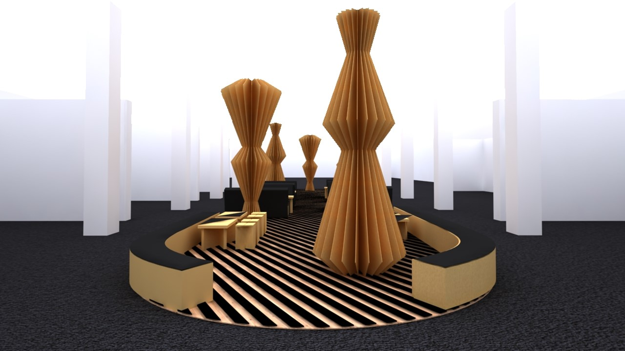 Contemporary Istanbul Fair Design Concept / Cardboard Lounge