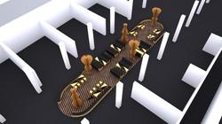 Contemporary Istanbul Fair Design Concept / Cardboard Lounge Area