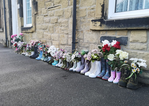 Northumberland: Flowers in Wellies