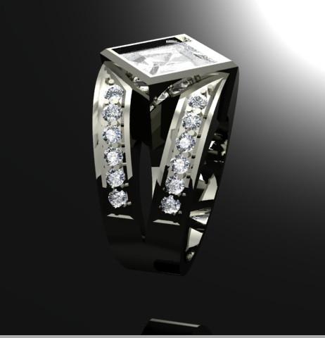 Beautiful Split Shank Diamond Ring