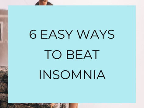6 Easy tip to help you fall asleep and kick insomnia in the BUTT