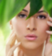 image_model-face-behind-leaves