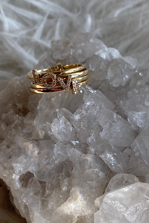 LOVE Puzzle Ring