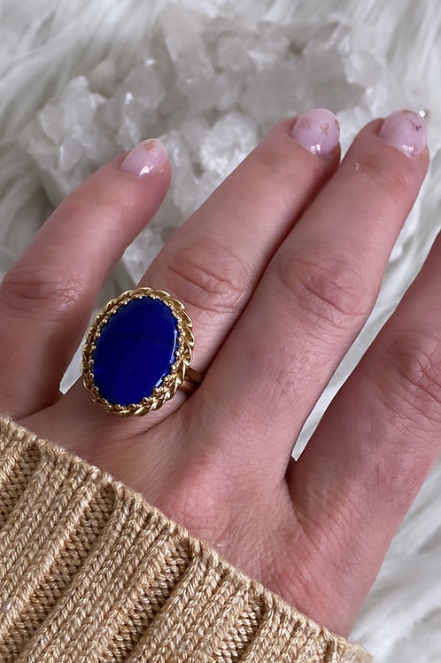 Lapis Statement Ring