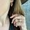 Thumbnail: 14k gold textured hoop earrings