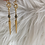 Thumbnail: WYSH Raw Diamond Snake Spike Earrings