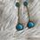 Thumbnail: Turquoise White Topaz earrings