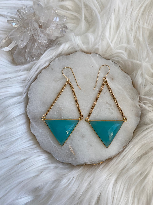 Triangle Chain Earrings
