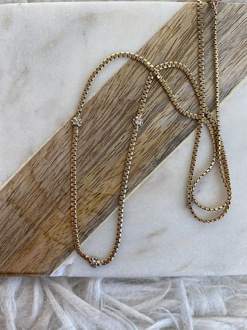 3 diamond necklace