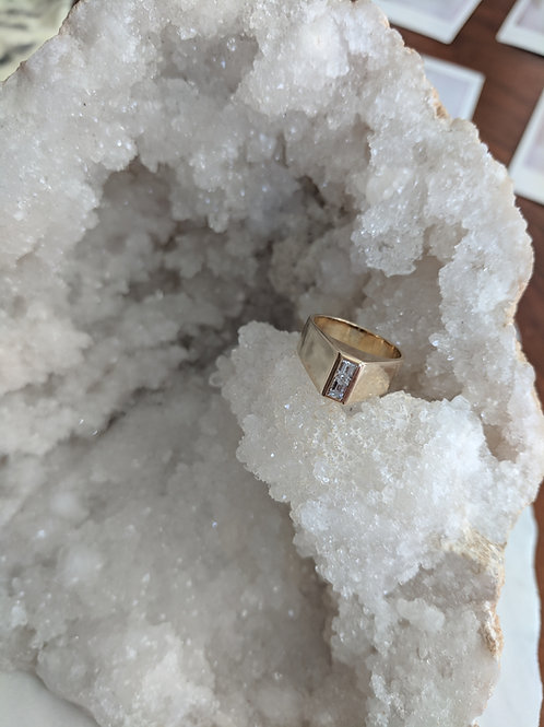 Vintage Emerald Cut Diamond Ring