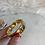 Thumbnail: Wide Vintage Gold bangle