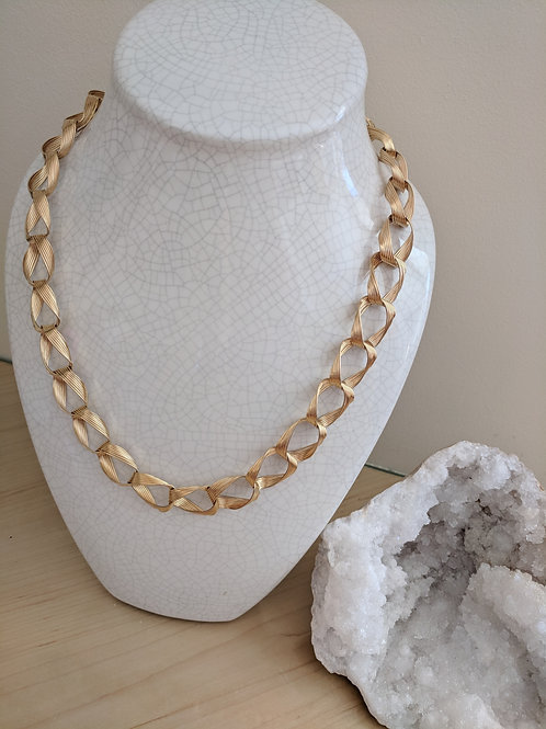 Vintage Woven Twisted Link Necklace