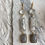 Thumbnail: Rock Crystal, Howlite and Quartz Drop earrings