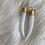 Thumbnail: White Jade Horn Earrings