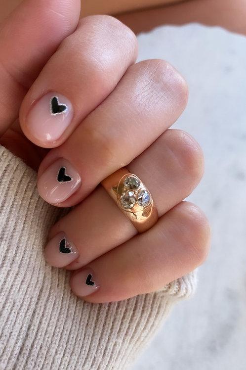 Antique Rose Cut Diamond Heart Ring