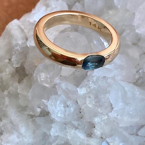 Flush Set Gemstone Ring