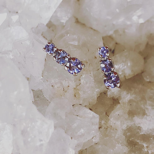 Vintage Tanzanite Earrings