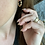 Thumbnail: 14k Gold Textured hoop earrings