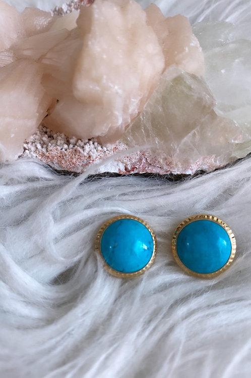 Vintage 1950's 14k gold and Turquoise Earrings