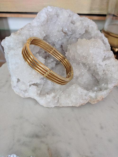 Vintage Gold Square Hinge Bracelet