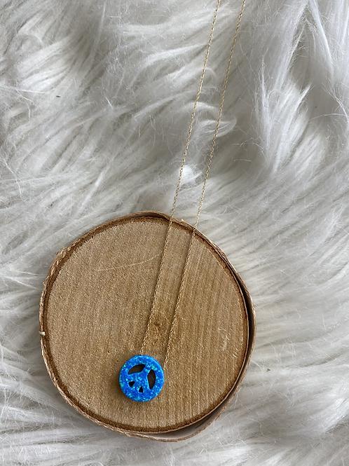 Fire Opal Peace Necklace