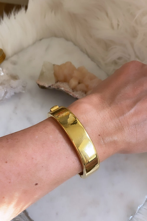 Wide Vintage Gold bangle