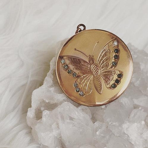 Victorian Butterfly locket