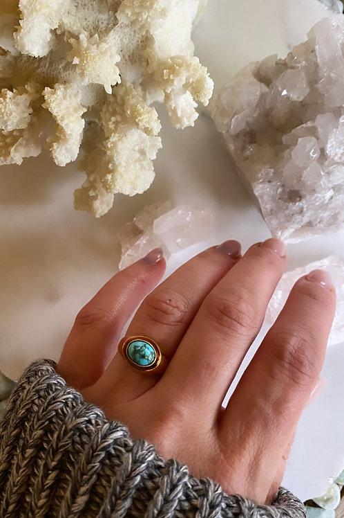 1970's Vintage 14k Turquoise Ring