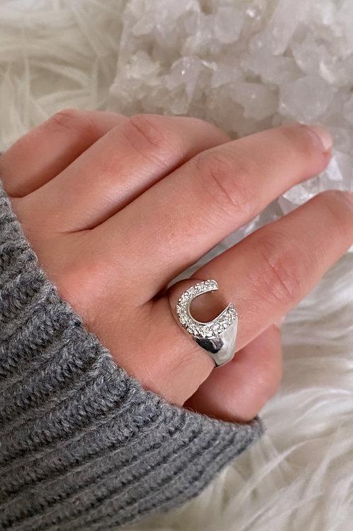 Vintage Diamond Horseshoe Ring