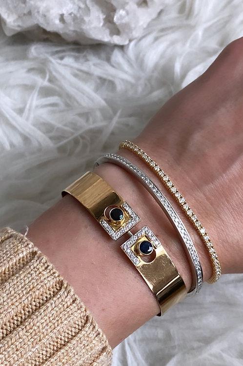 Diamond and Sapphire Bangle bracelet