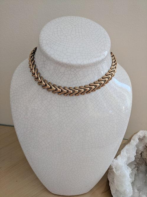 Vintage Chevron Necklace and Bracelet set