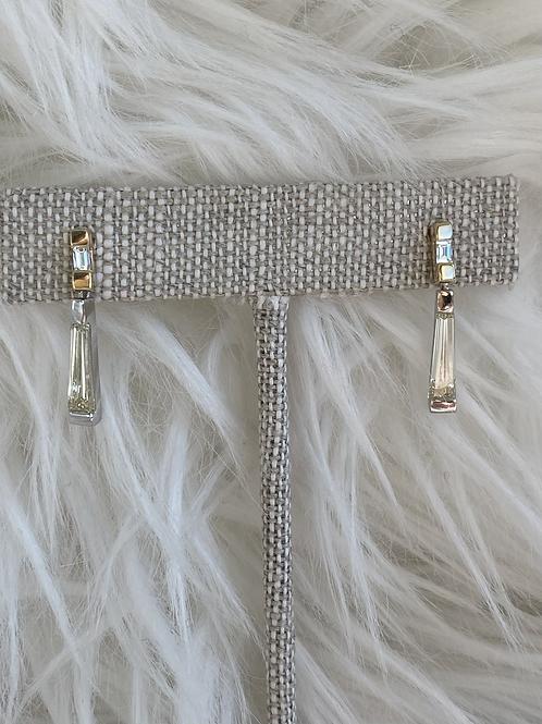 1.76 tcw diamond baguette earrings