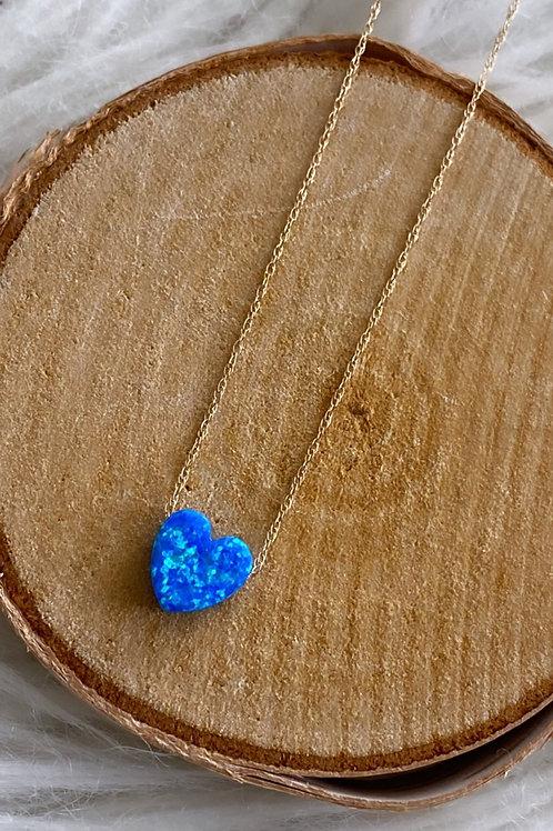 Fire Opal Heart Necklace