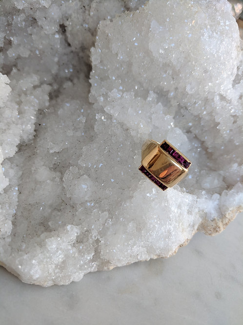 Vintage Tiffany's Ruby Signet Ring