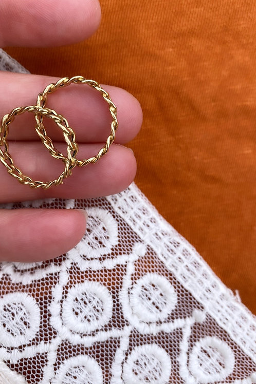 14k gold chain ring