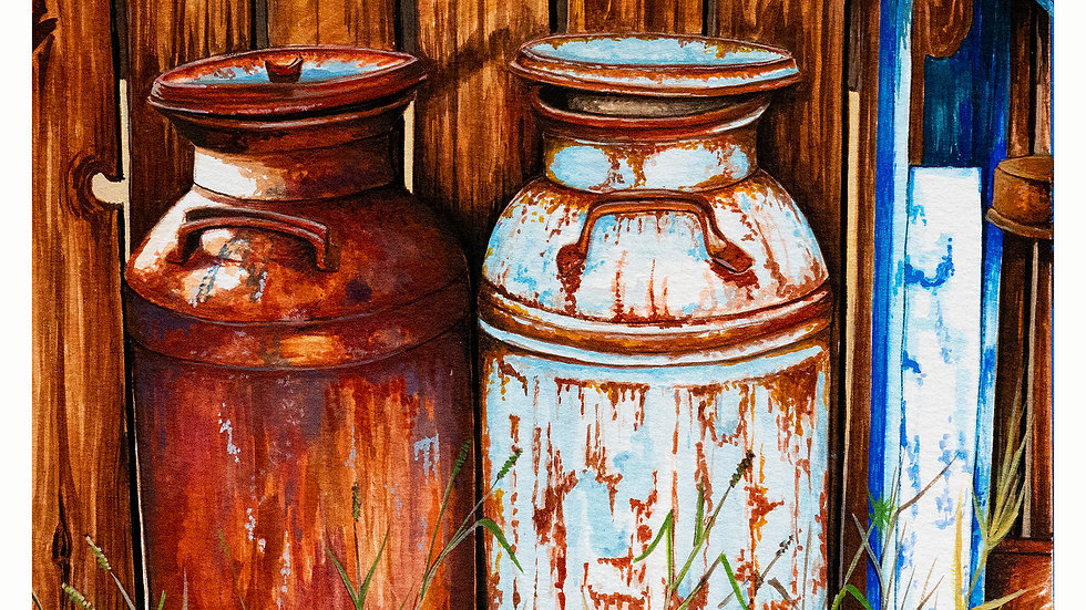 Milk Cans 8x10