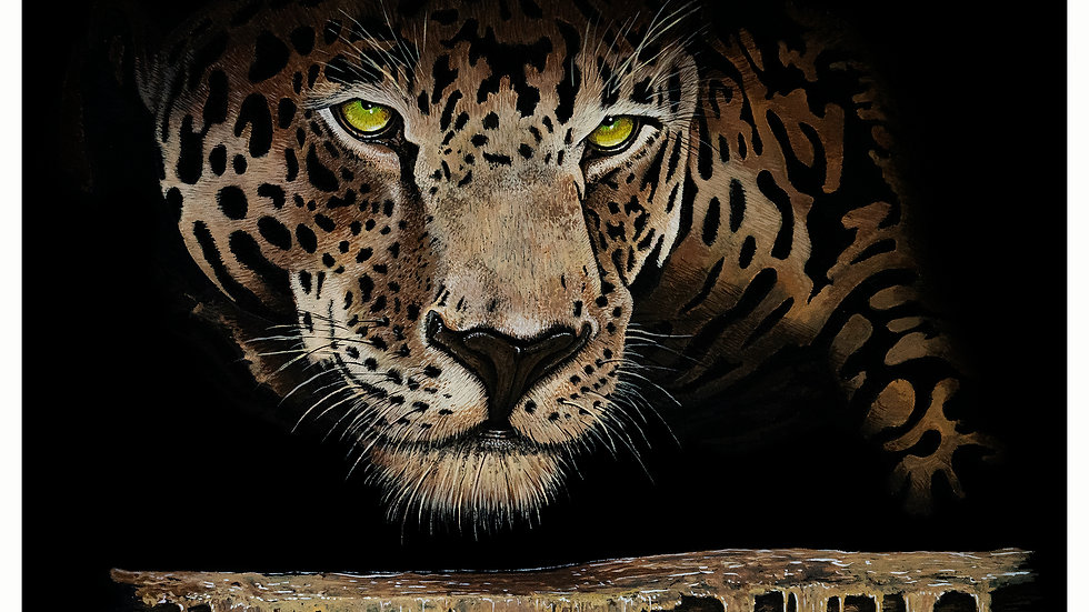 Leopard  Black 9x12