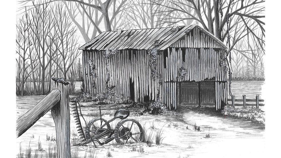 BW Barn 4....Black & Grey series
