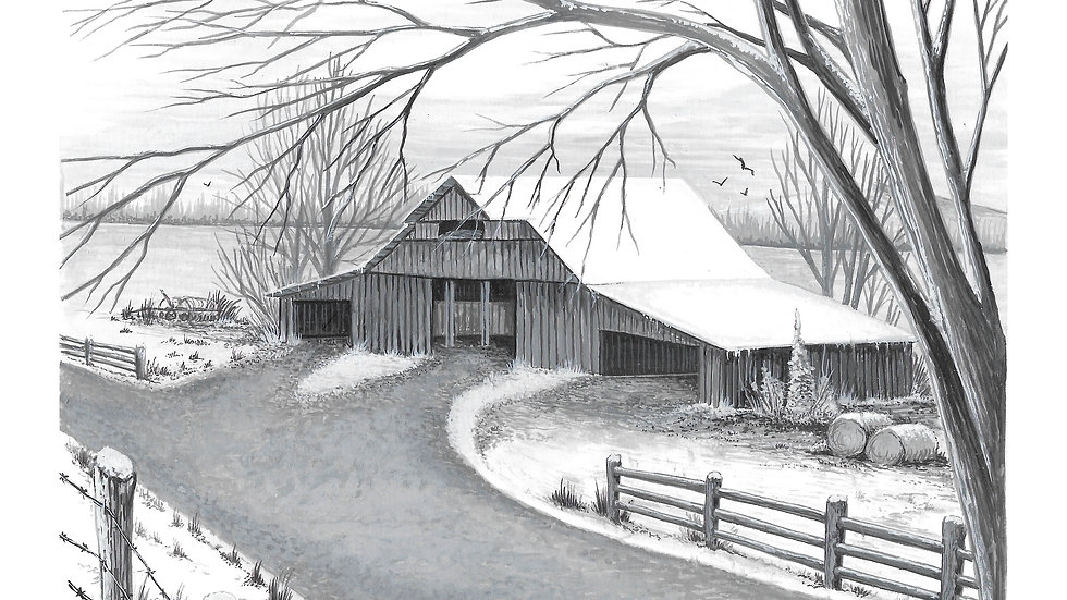BW Barn 3.....Black & Grey series