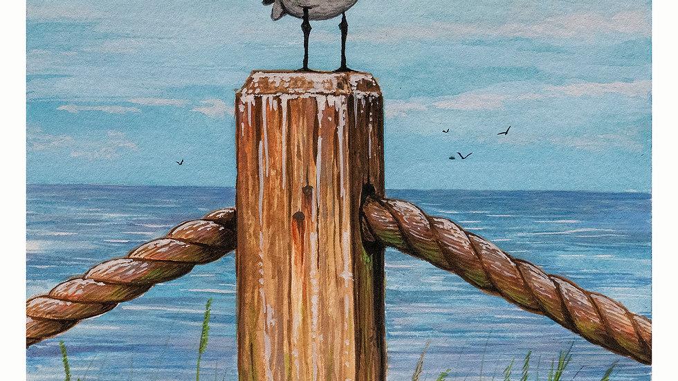 post bird ocean 6x8