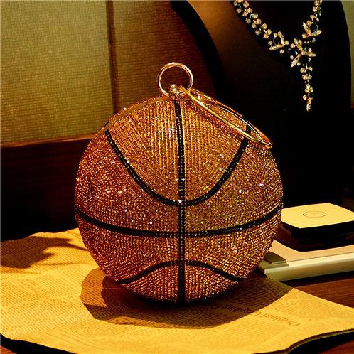 Rhinestone basketball purse