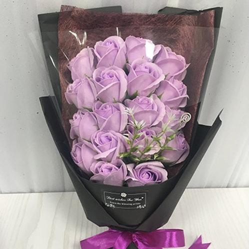 Flone 18pcs Creative Scented Artificial Soap Flowers Rose Bouquet Gift